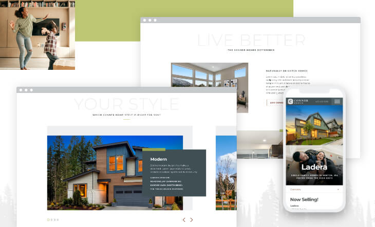 Seattle Home Builder Conner Homes Launches A New Website Efelle Creative Seattle Wa