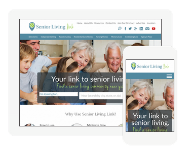 Sr Living Link Website Design