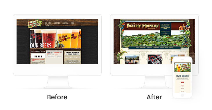 Website Design Before & After: Fig Mtn