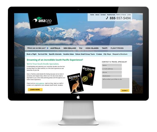 travel agent web design