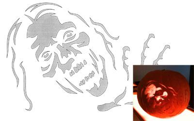 Zombie Pumpkin Templat...